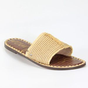 SAM EDELMAN Womens Glenda Sandals Natural Raffia
